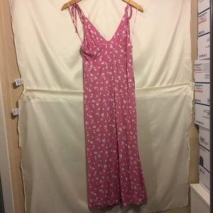 Cotton Candy LA Pink Floral Maxi Dress M